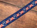 Patriotic Paws 1 Inch Collar