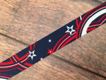 Stars and Swirly Stripes 1 Inch Collar