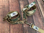 Premade Army Camo Multi Dog Leash System Set