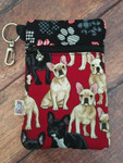 French Bulldogs Frenchies / Stylish Paws Zipper Pouch