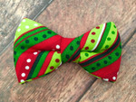 Holiday Dots and Stripes BowTie