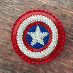 Collar Glam - Captain America