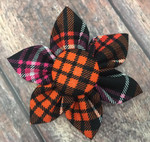 Halloween Plaid CollarFlower