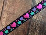 Confetti Hearts 1 Inch Collar