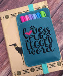 Planner Pocket Band - Love Is A Fur Legged Word Teal