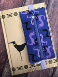 Planner Zipper Pouch - Greyhound Shadows Purple
