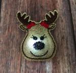 Collar Glam Flasher - Reindeer Girl