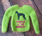Elf Sweater IG Rescue Love Repeat Lime / Pink