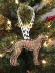 Ornament Greyhound Silhouette Copper Swirl