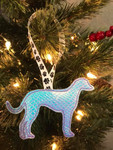 Ornament Greyhound Silhouette Holographic Mermaid Scales