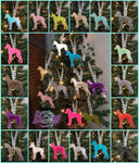 Ornament - Italian Greyhound Silhouette *Colors & Personalization*