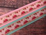Spring Sparkle Vintage Roses 1 Inch Collar