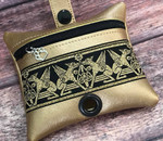 Faux Leather Poopie Pouch - Anubis Gold
