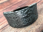 Hound Collar - Luminous Luster Charcoal Faux Leather