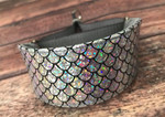 Hound Collar - Mystical Mermaid Silver Faux Leather