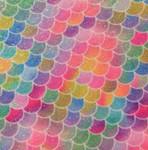 1/2 inch Tag Collar - Mermaid Shimmer Rainbow Pleather