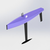 Goth 65 Available in Fiberglass or Carbon Fiber. Kit is complete with servos and foils. Hull is designed to support both swing rig and conventional rig.
