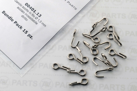 Stainless Steel 90 degree version sheet hooks Pack of 15