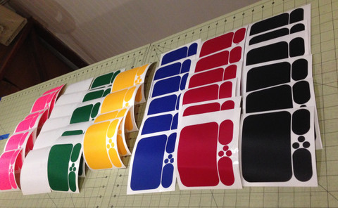 Dragon Force RG65 Computer Cut Deck Patches Available in an assortment of colors to match or contrast your Boat