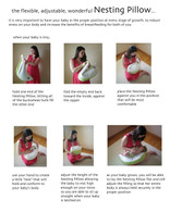 instructions for using the Nesting Pillow