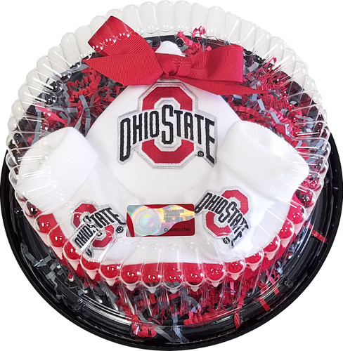 Ohio State Buckeyes Piece of Cake Baby Gift Set