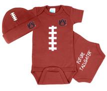 Auburn Tigers Baby Football Onesie and Cap Set