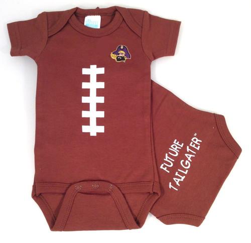 East Carolina Pirates Future Tailgater Football Baby Onesie