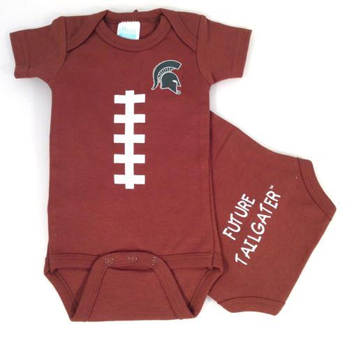 Michigan State Spartans Baby Football Onesie
