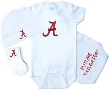 Alabama Crimson Tide 3 Piece Baby Gift Set