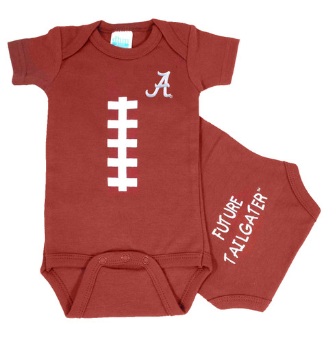 Alabama Crimson Tide Baby Football Onesie