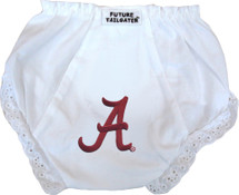 Alabama Crimson Tide Eyelet Baby Diaper Cover