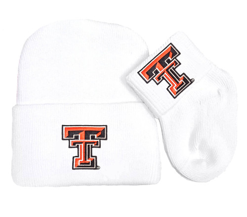 Texas Tech Red Raiders Newborn Baby Knit Cap and Socks Set