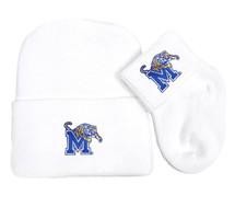 Memphis Tigers Newborn Baby Knit Cap and Socks Set