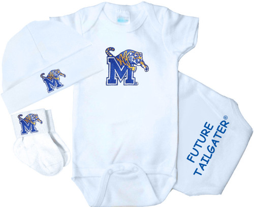 Memphis Tigers Homecoming 3 Piece Baby Gift Set