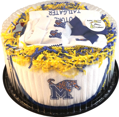 Memphis Tigers Baby Fan Cake Clothing Gift Set