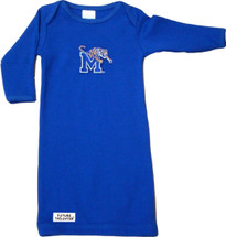 Memphis Tigers Baby Layette Gown