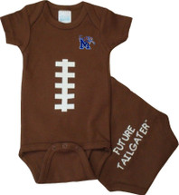 Memphis Tigers Future Tailgater Football Baby Onesie