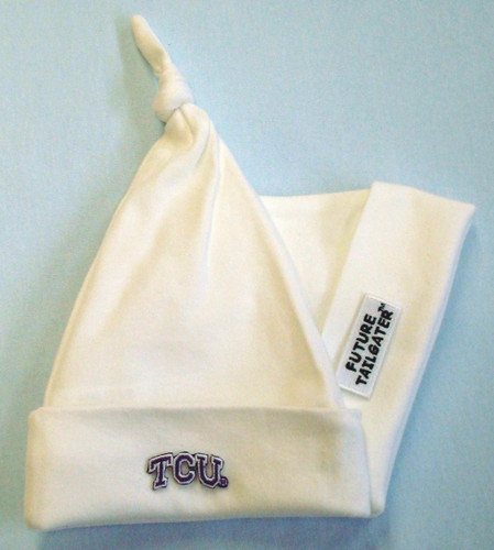 Texas Christian TCU Horned Frogs Baby Knotted Cap
