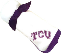 Texas Christian TCU Horned Frogs Baby Receiving Blanket