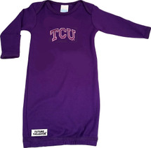 Texas Christian TCU Horned Frogs Baby Layette Gown