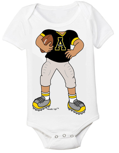 Appalachian State Mountaineers Heads Up! Football Baby Onesie