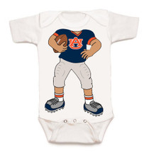 Auburn Tigers Heads Up! Football Baby Onesie