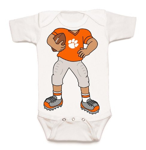 Clemson Tigers Heads Up! Football Baby Onesie