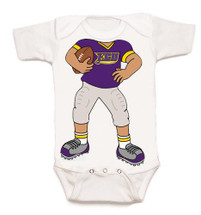East Carolina Pirates Heads Up! Football Baby Onesie
