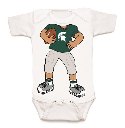 Michigan State Spartans Heads Up! Football Baby Onesie