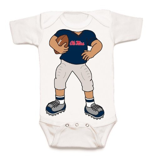 Mississippi Ole Miss Rebels Heads Up! Football Baby Onesie
