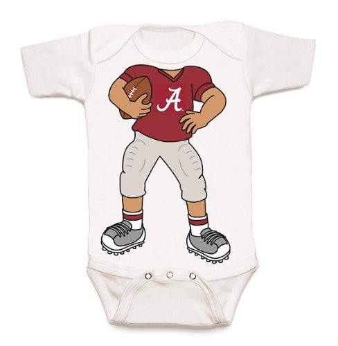 Alabama Crimson Tide Heads Up! Football Baby Onesie