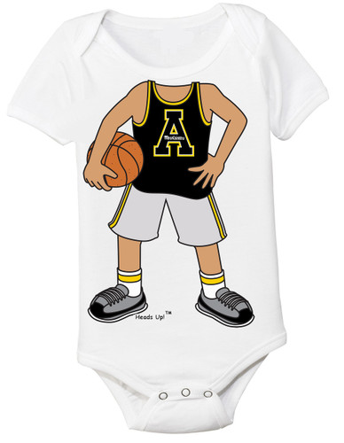 Appalachian State Mountaineers Heads Up! Basketball Baby Onesie