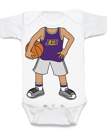 East Carolina Pirates Heads Up! Basketball Baby Onesie