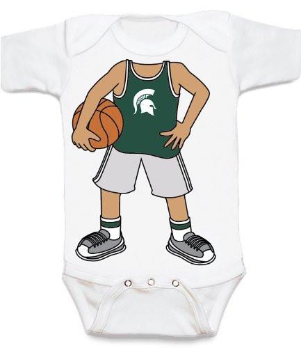 Michigan State Spartans Heads Up! Basketball Baby Onesie